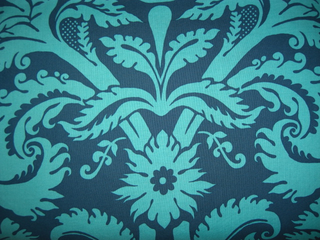 teal wallpaper. Fabric Selections