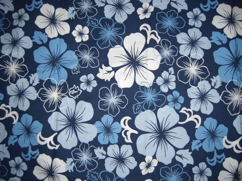 Top Hawaiian Flower Print Fabric Wallpapers